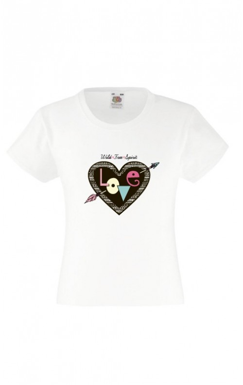 T-shirt fille : LOVE